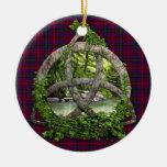 Trinidad del Celtic del tartán de Montgomery del Ornaments Para Arbol De Navidad