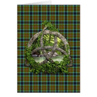 Trinidad del Celtic del tartán de Thomson del clan Felicitaciones