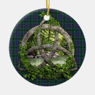 Trinidad del Celtic del tartán del caminante del c Ornaments Para Arbol De Navidad