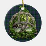 Trinidad del Celtic del tartán del caminante del Ornaments Para Arbol De Navidad