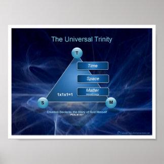 Trinidad del universal de la carta póster