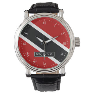 Trinidad Flag Custom Name Wrist Watch
