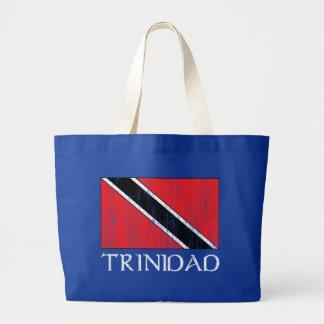 Trinidad Flag Large Tote Bag