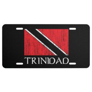 Trinidad Flag License Plate