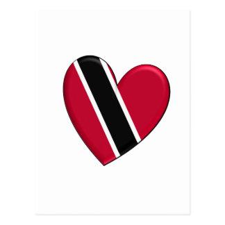 Trinidad Heart Flag Postcard