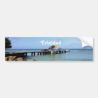 Trinidad Pier Car Bumper Sticker