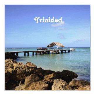 Trinidad Pier 5.25x5.25 Square Paper Invitation Card