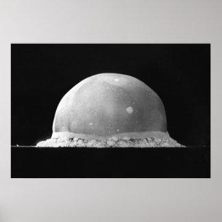 Trinidad prueba bomba atómica explosión 16 de póster