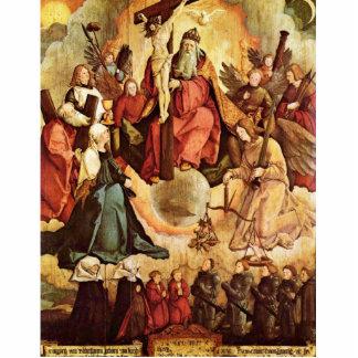 Trinidad santa con ángeles, los santos, y su funda escultura fotografica
