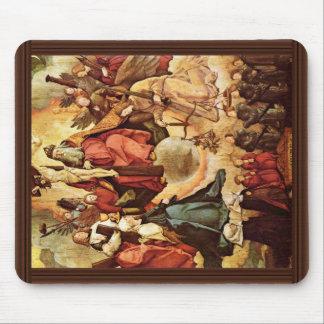 Trinidad santa con ángeles, los santos, y su funda alfombrillas de ratones