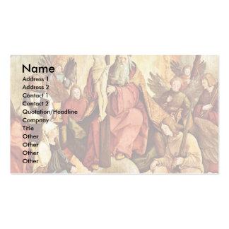 Trinidad santa con ángeles, los santos, y su funda tarjetas de visita