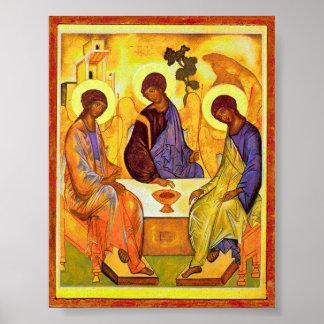 Trinidad santa de Andrei Rublev. Gran titl de la p Póster