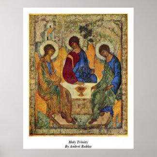 Trinidad santa de Andrei Rublev Impresiones