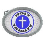 Trinidad santa hebillas cinturon ovales