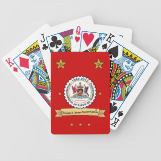 Trinidad & Tobago 50th Anniversary Coat Of Arms Bicycle Playing Cards
