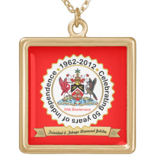 Trinidad & Tobago 50th Anniversary Gold Plated Necklace