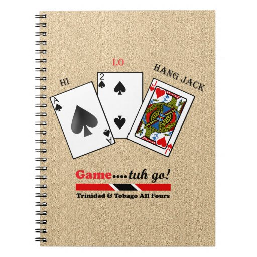 Trinidad & Tobago All Fours Spiral Notebooks