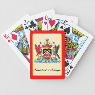 Trinidad & Tobago Coat Of Arms Bicycle Playing Cards
