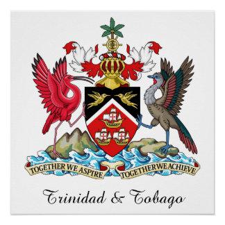 Trinidad Tobago Coat Of Arms Poster