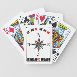 Trinidad & Tobago Compass Design Bicycle Playing Cards