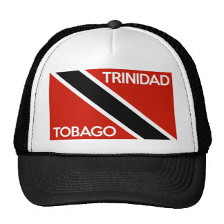 trinidad tobago country flag text name hat