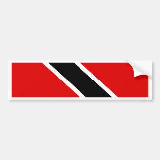 Trinidad Tobago Flag Car Bumper Sticker