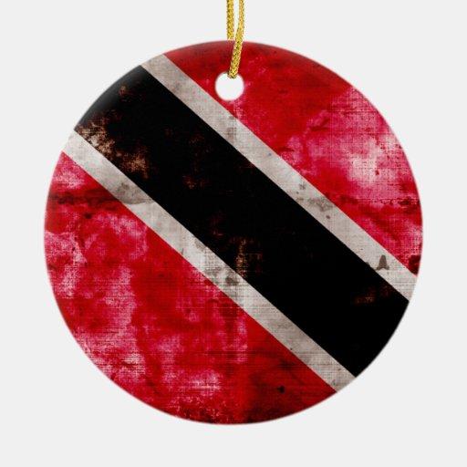 Trinidad; Tobago Flag Christmas Tree Ornament