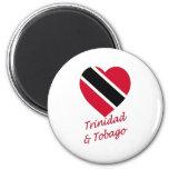 Trinidad & Tobago Flag Heart Refrigerator Magnet