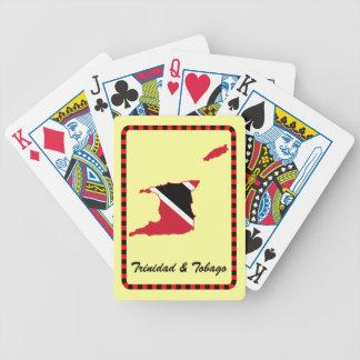 Trinidad & Tobago Flag Map Bicycle Playing Cards