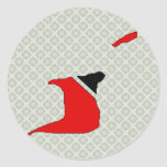 Trinidad Tobago Flag Map full size Stickers