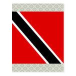 Trinidad Tobago High quality Flag Postcard