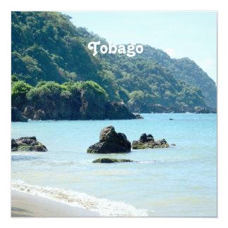 Trinidad & Tobago Landscape 5.25x5.25 Square Paper Invitation Card