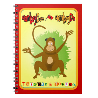 Trinidad & Tobago Monkey See Monkey Do Notebook