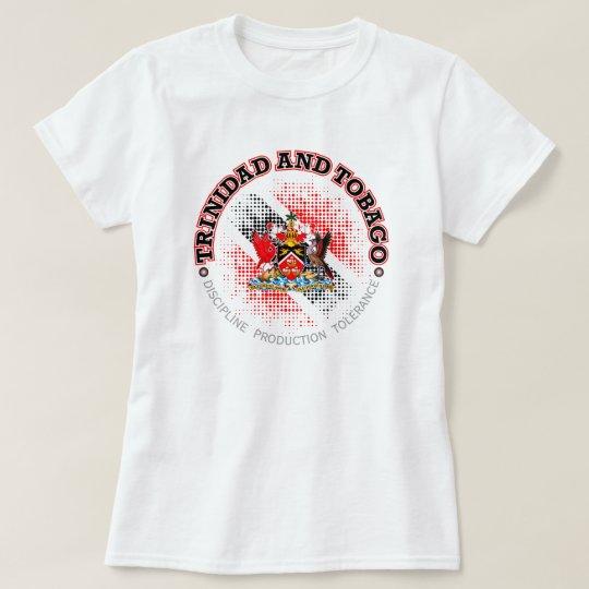 Trinidad Paint Splatter Flag Adult Womens Long-Sleeved Tee Shirts