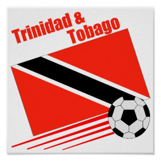 Trinidad & Tobago Soccer Team Poster