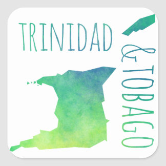 Trinidad & Tobago Square Sticker