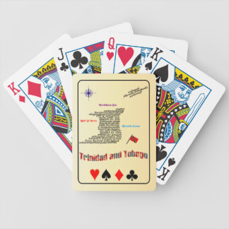 Trinidad & Tobago Towns And Villages Map Bicycle Playing Cards