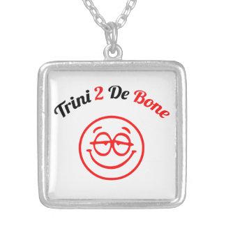 Trinidad & Tobago Trini To The Bone Square Pendant Necklace