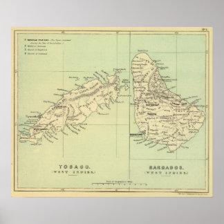 Trinidad y Tobago Barbados Póster