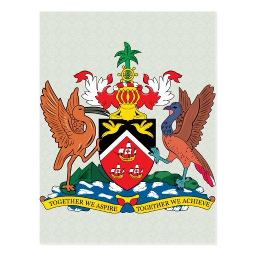 Trinidadandtobago Coat of Arms detail Postcard