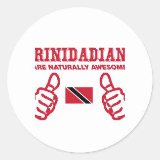 Trinidadian  awesome design classic round sticker