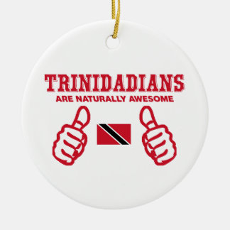 Trinidadian  awesome design Double-Sided ceramic round christmas ornament