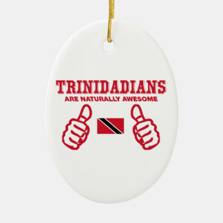 Trinidadian  awesome design Double-Sided oval ceramic christmas ornament
