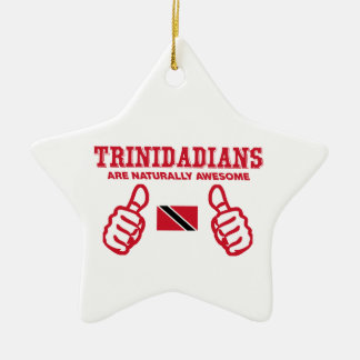 Trinidadian  awesome design Double-Sided star ceramic christmas ornament