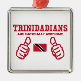 Trinidadian  awesome design square metal christmas ornament