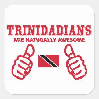 Trinidadian  awesome design square sticker