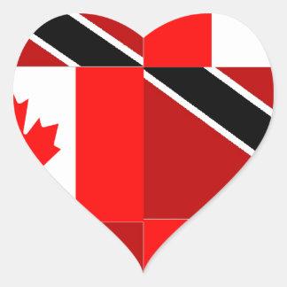 Trinidadian-Canadian Heart Sticker