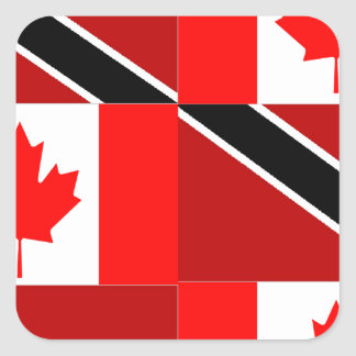 Trinidadian-Canadian Square Sticker