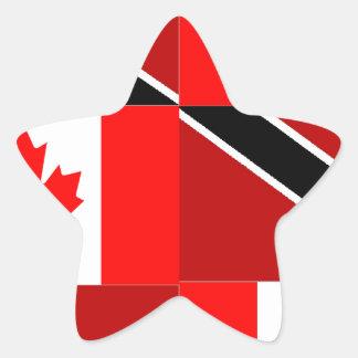Trinidadian-Canadian Star Sticker