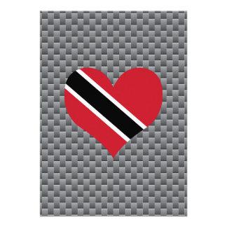 "Trinidadian Flag on a cloudy background 5"" X 7"" Invitation Card"
